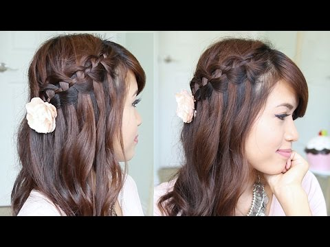 4 Strand Waterfall Braid Hairstyle for Short & Long Hair