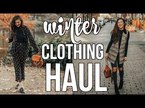 HUGE WINTER CLOTHING HAUL: Free People, F21 & MORE!!    Sarah Belle