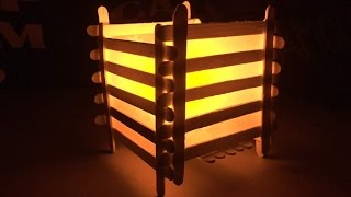 DIY night lamp | Popsicle Sticks Crafts | Ice Cream Stick Lamp | Popsicle Stick Lamp |PopStick Craft