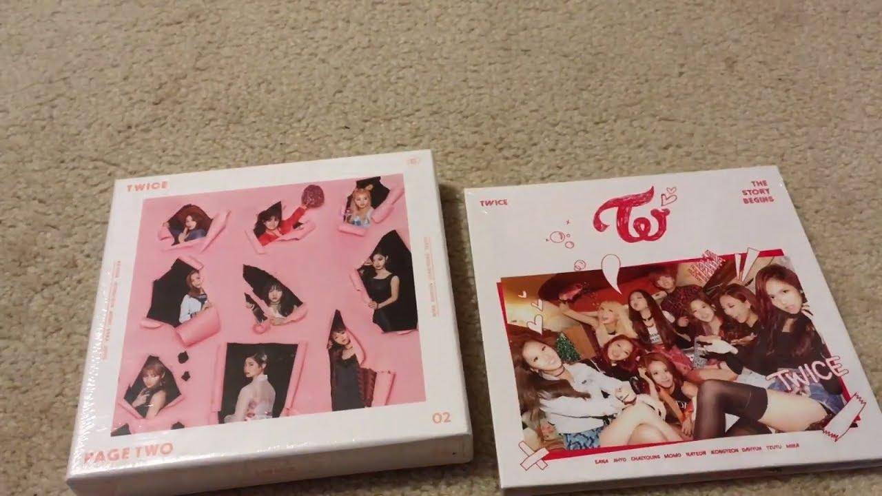 K-Pop Haul #27 (Twice The Story Begins & Page Two Pink Version Unboxing)