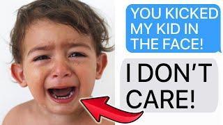 r/EntitledParents | ENTITLED PARENT KICKS KID IN THE FACE! (Reddit Stories)