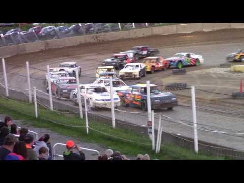Old Bradford Speedway Pure Stock Feature 8-6-17