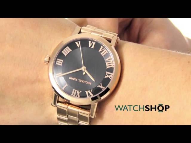 32053350a379 VIDEO Review) Michael Kors Women s Norie Rose Gold-Tone Watch MK3585 ...