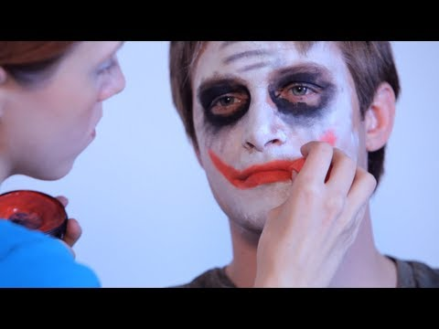 how to paint the joker face painting youtube. Black Bedroom Furniture Sets. Home Design Ideas