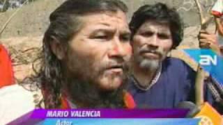 AMERICA NOTICIAS 21-04-2011 BAUTISMO DEL CRISTO PERUANO EN EL RIO RIMAC