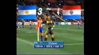 Winning Eleven 3 - Goles de Dave Morker con Chilavert (Paraguay)