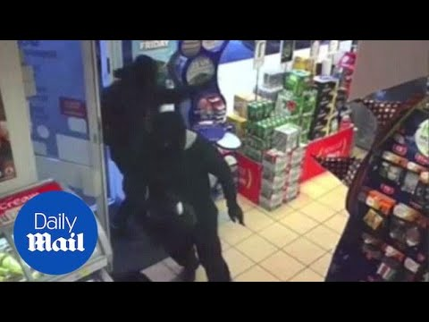 CCTV: Cash in transit robbery at Preston newsagents - Daily Mail