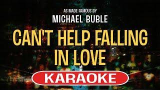 Can't Help Falling In Love (Karaoke Version) - Michael Buble