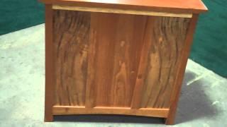Handmade Solid Maple/cherry Wine/liquor Cabinet Retail: $319