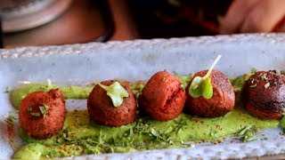 How To Make Beetroot Falafel With Spinach & Chickpea Dip | Olive Tree Trading | Vicky Ratnani