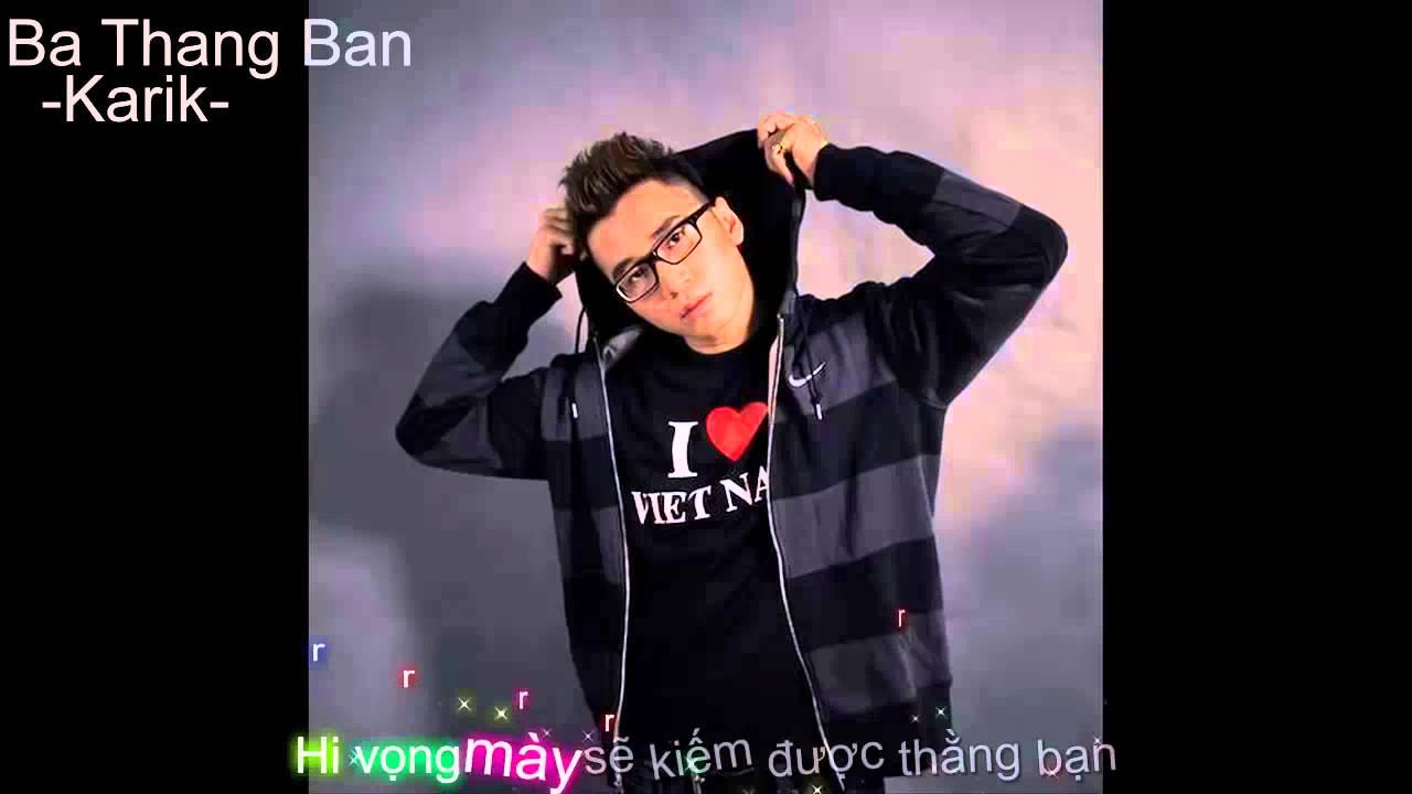 Karaoke Ba thang ban Karik