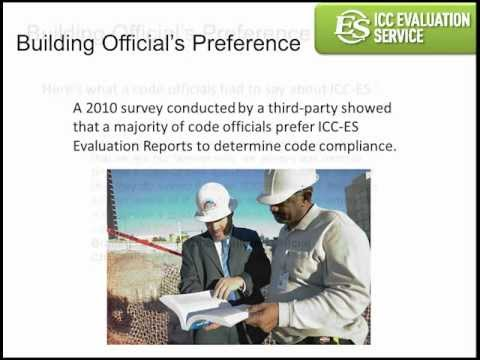 ICC Evaluation Services - Approving Innovative Building Products