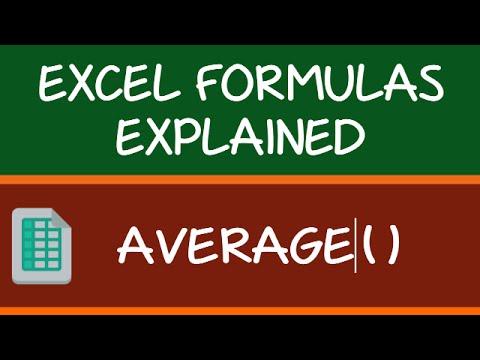 AVERAGE Formula in Excel
