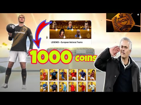 Omg 😱 1000 Coins Pack Opening LEGENDS - European National Teams | Pes 2020 HOW Get Beckham