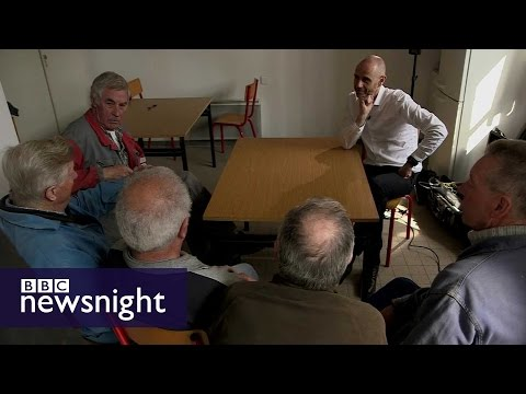 Evan Davis speaks to voters in northern France - BBC Newsnight