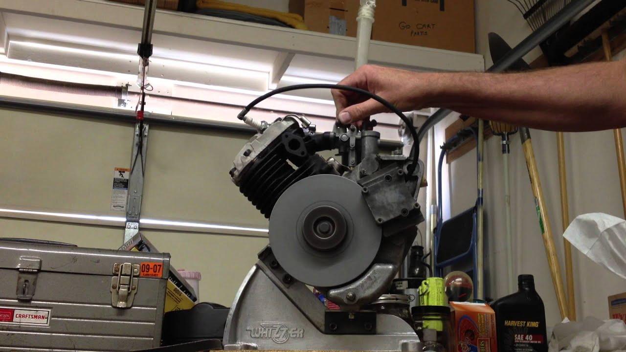 Bills rebuilt vintage whizzer model h motor youtube for H and h motors
