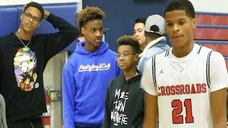 "Shareef O'Neal Lebron James Jr. ""Bronny"" and Bryce Show support for Shaqir O'Neal"