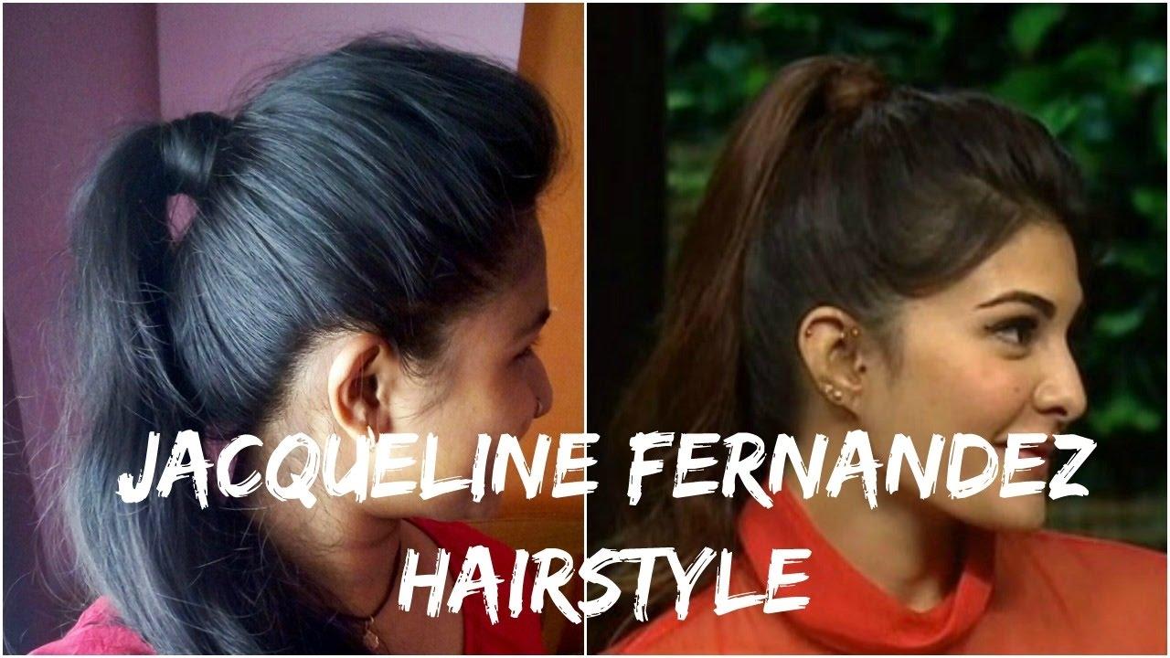 How To Jacqueline Fernandez Hairstyle Koffee With Karan Season 5