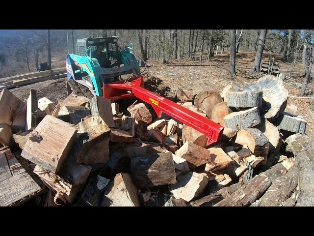 Splitting big logs and stumps