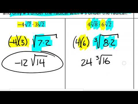 34 - Operations With Nth Root Radicals (VIDEO 1)