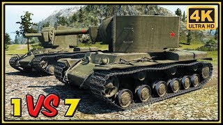 KV-2 - 10 Kills - 1 VS 7 - World of Tanks Gameplay - 4K Video