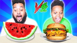 HEALTHY VS JUNK FOOD CHALLENGE SKITS - Onyx Family
