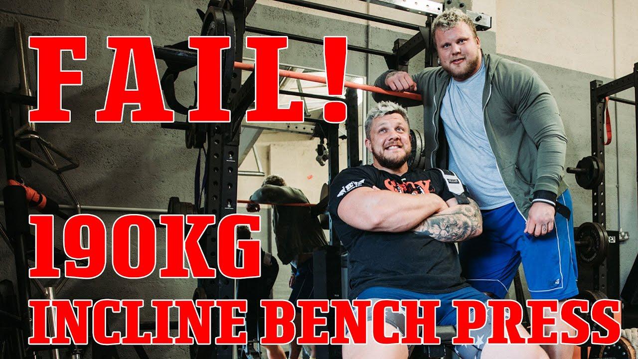 Failing a 190KG Incline Bench Press!