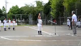 2017年秋季大会選手宣誓 みどり少年野球クラブ 主将 藤井 藤井康生 検索動画 11
