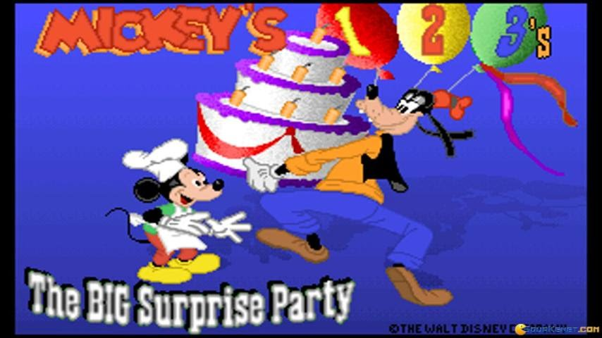 Mickey S 123 The Big Surprise Party Gameplay Pc Game 1992 Youtube