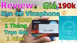 Trên tay Sim 4G Vinaphone VD89 60GB/THÁNG (2GB/ngày) trọn gói 1 năm không nạp tiền