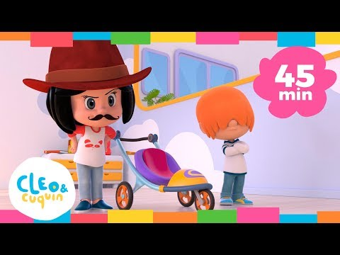 MY LITTLE SPORTSCAR and more songs. Cleo & Cuquin Nursery Rhymes | Songs for Children (45min)