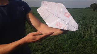 PAPER PLANE WORLD RECORD! OVER 500 METERS (1640 FEET)!!!!