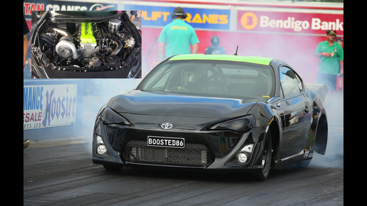 WORLD RECORD - MENTAL 7 SEC 1FZ POWERED TOYOTA 86 ON RADIALS - YouTube