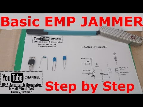 Basic emp jammer %100 work step by step