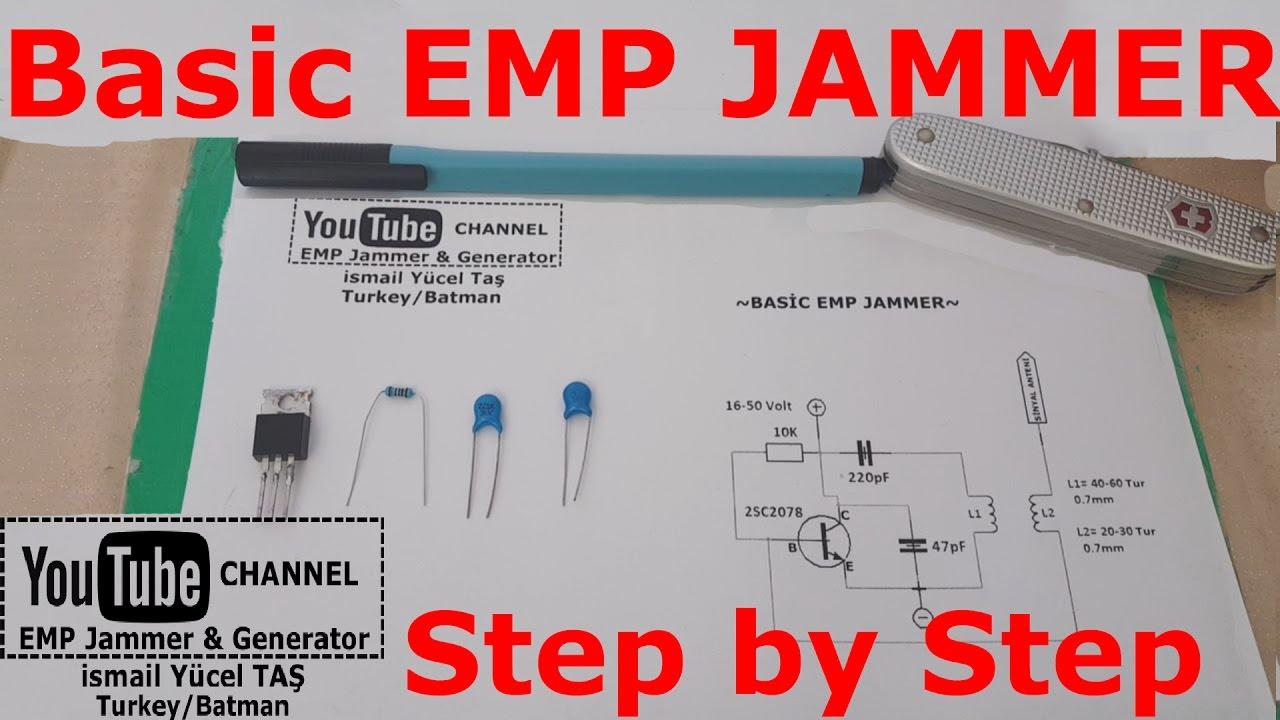 Basic emp jammer %100 work step by step - YouTube