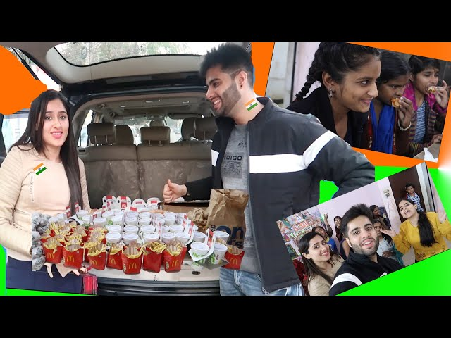 Surprising ORPHAN KIDS with HAPPY MEALS #RepublicDay #fun #glamcouple