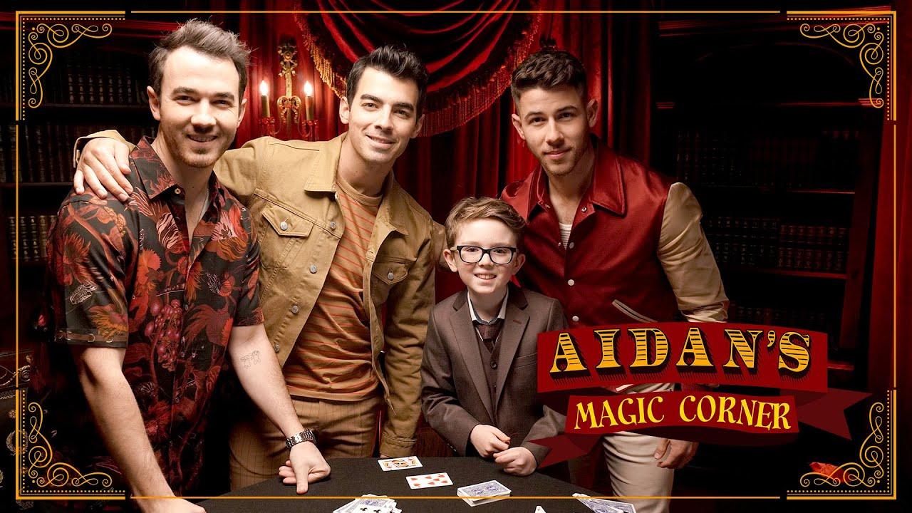 'Aidan's Magic Corner' Premiere: Jonas Brothers Amazed by 10-Year-Old Magician
