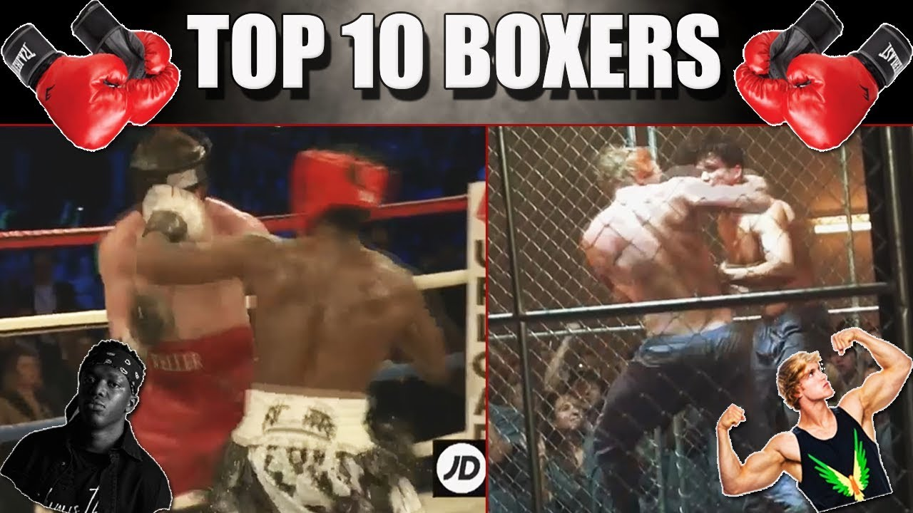 Top 10 Youtubers in Boxing Compilation!!