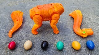 Dinosaur Walking and Laying Eggs Toys Learn Colors & Numbers for Children #2 - FMC I242M