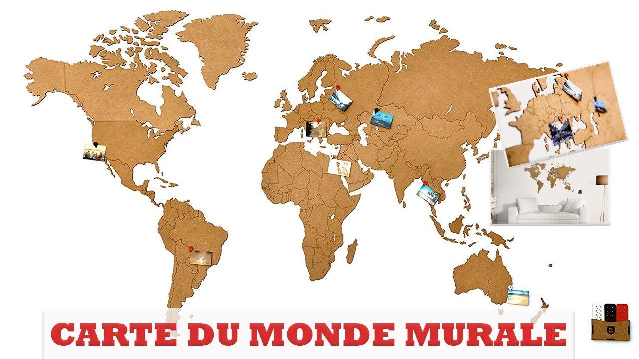 carte du monde bois Carte du Monde Deco Murale   Map Monde en Bois pour vos Murs