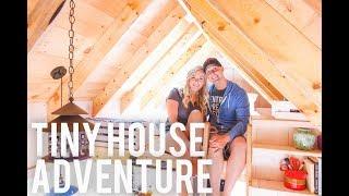 Tiny House Adventure  In Charlevoix Michigan - Summer Break Vlog Day 2