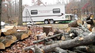 Splitting And Cutting Wood For My Off Grid Rv Wood Stove