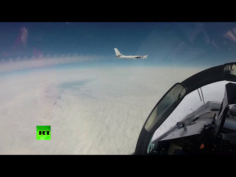 RAW:  Russian bomber flyby near Alaska