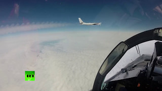 RAW   Russian bomber flyby near Alaska