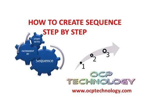 How to create sequence step by step