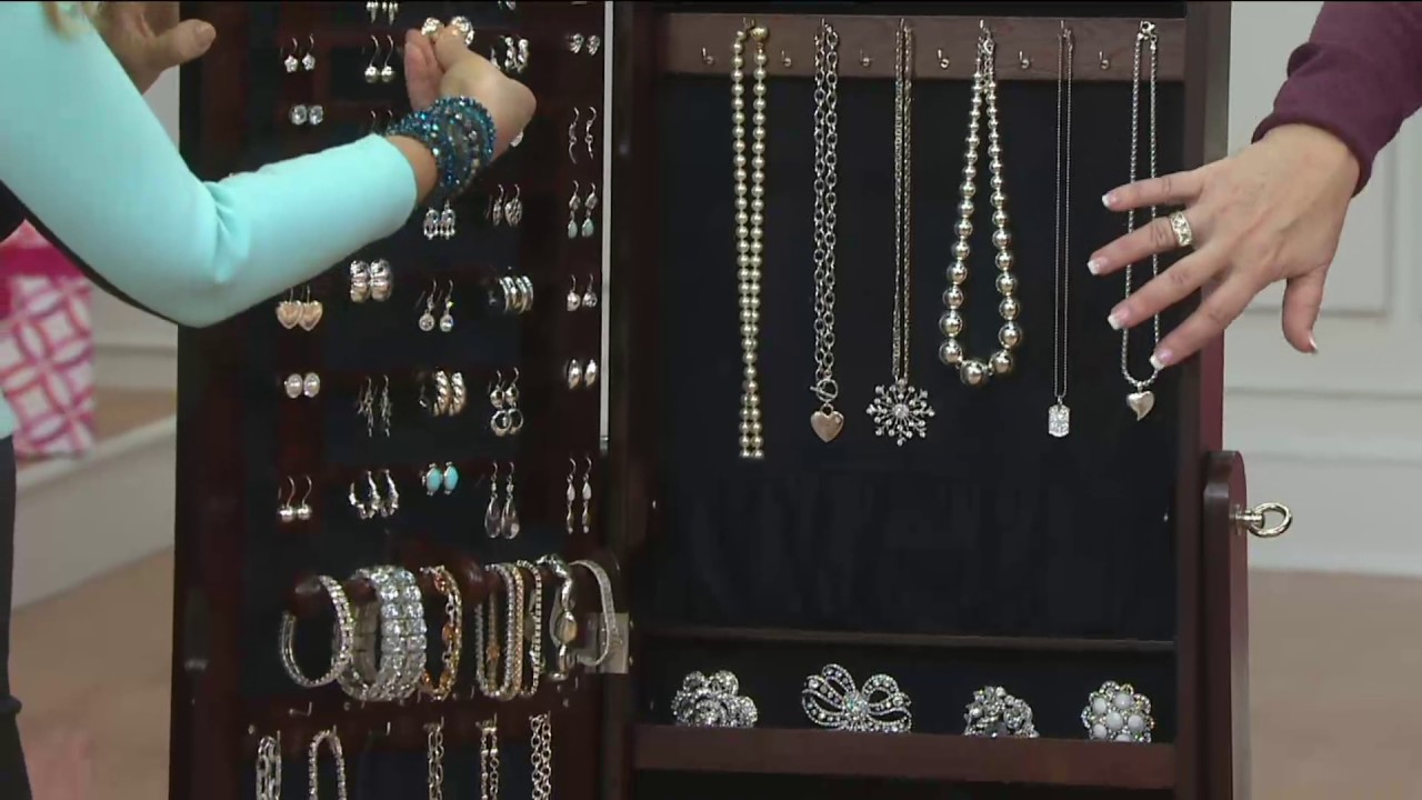 Gold Silver Safekeeper Jewelry Armoire by Lori Greiner on QVC