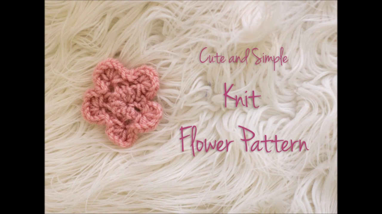 How to make cute and simple knit flower youtube how to make cute and simple knit flower bankloansurffo Gallery