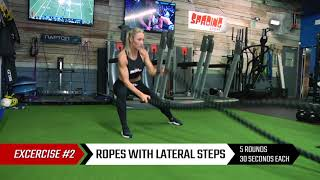 Battle Ropes Workout with Caroline Pearce | PFL Fighting Fit