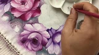 Aprenda a Pintar Rosa Margarida e Folhas