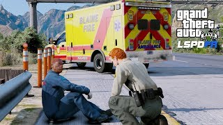 AMBULANCE INVOLVED ACCIDENT - GTA 5 LSPDFR Mod Highlights & Funny Moments